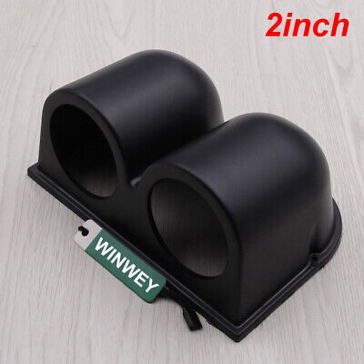 52mm 2 Inch 2 Hole Gauge Meter Holder Cup Dash Pillar Mount Pod Black