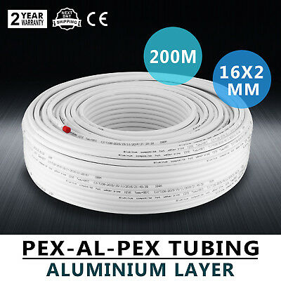 656ft Pex Al Pex Tubing Pipe Radiant Heat 12 200m Roll Piping Hot Cold Water