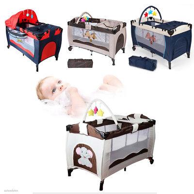 Portable Infant Child Baby Playard Travel Cot Bedding Playpen Bassinet Entryway