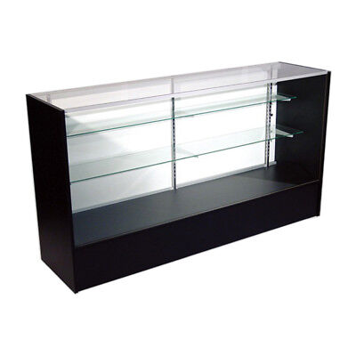 Economy Black Glass Display Case Showcase 48 L - New York Pickup Only