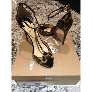 BRAND NEW Louboutins leopard heels