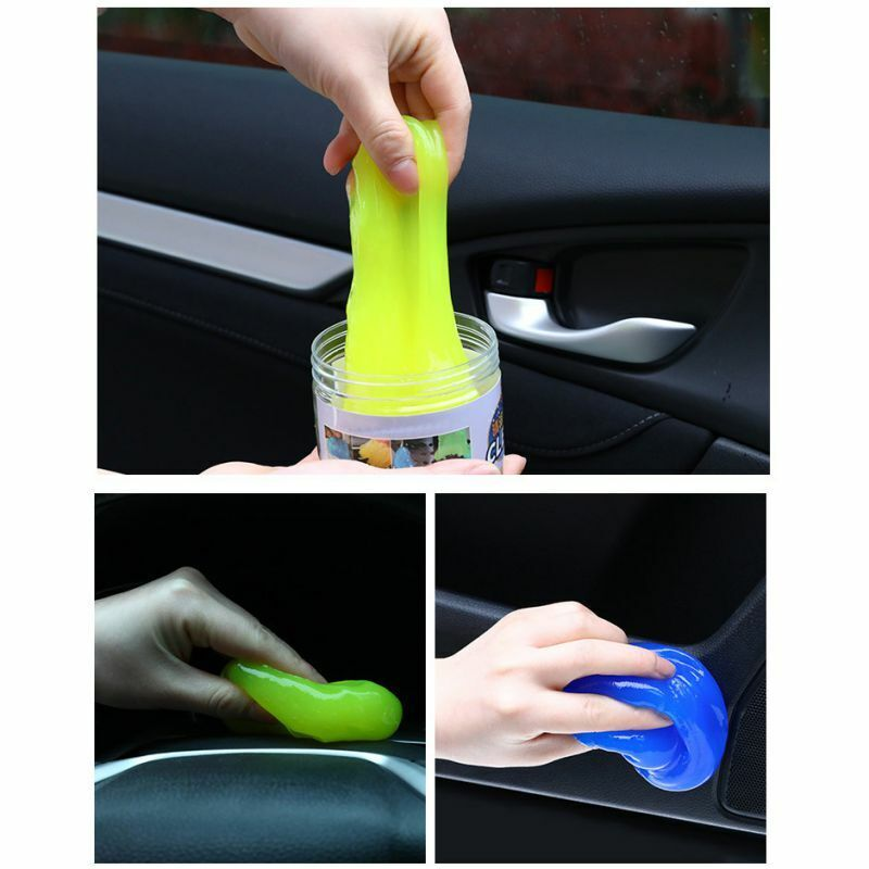 1/2pc Gel Magic Mud Car Slime Cleaner Laptop Air Outlet Dashboard Dust Cleaning