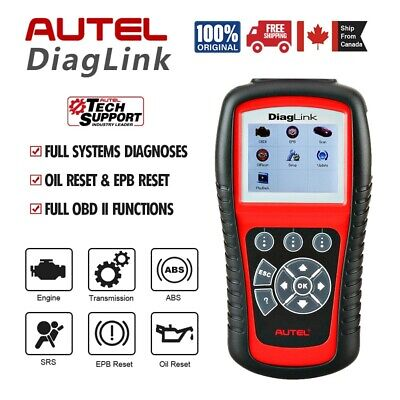 Autel Diaglink OBD2 Code Reader Car Diagnostic Scanner ABS SRS Airbag PK MD802