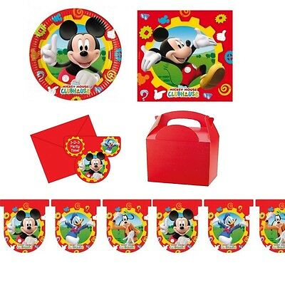 Set für 10 ~ Disney Mickey Mouse Clubhouse - Thema Partyartikel Geschirr ~ ()