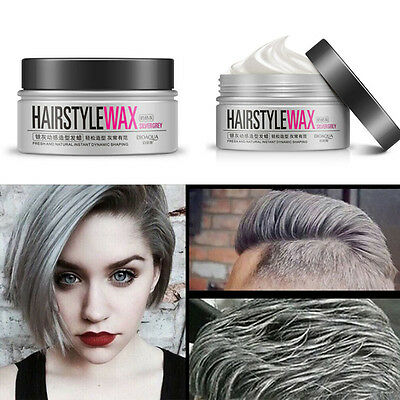 hair style wax silver grey wax hair model pomade mud lasting 3693