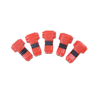 5x 2 Pin 2 Way Universal T-type Compact Wire Wiring Connector Terminal Block