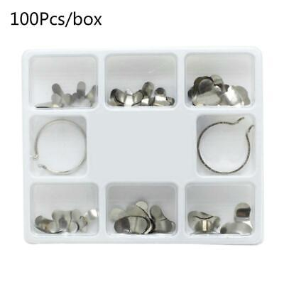 100pcs Dental Sectional Contoured Matrices Matrix Bands With 2 Rings Orthodontic