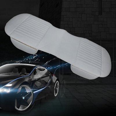 Grau Universal Auto SUV Sitzauflage Sitzbezüge PU-Leder Rücksitz Rückenkissen *1 (Suv Sitzbezüge)