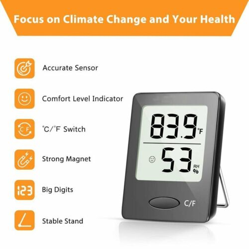 Habor Digital LCD Thermometer Hygrometer Humidity Meter Room