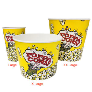 CUP046 - ROLLED RIM POPCORN CUPS - LARGE 46 OZ - 500/CASE