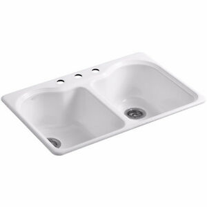 Brand New Kohler Cast Iron Top Mount Kitchen Sink