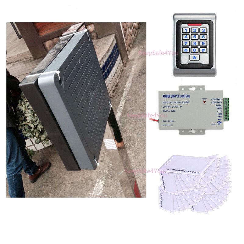 WG26 Middle Range RFID Reader Parking System + Metal Controller + 100 PCs Cards