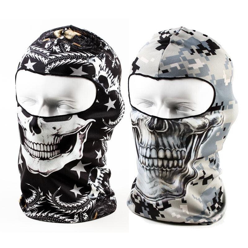 Outdoor Thin Cycling Motorcycle Skull Cap Balaclava Full Face Mask Windproof Clothing