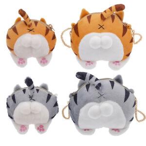 Cartoon-Plush-Cat-Ass-Design-Coin-Purse-Messenger-Crossbody-Bag-Women-Handbag