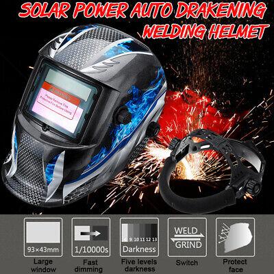 Solar Auto Darkening Welding Helmet Arc Tig Mig Mask Grinding Welder Hood