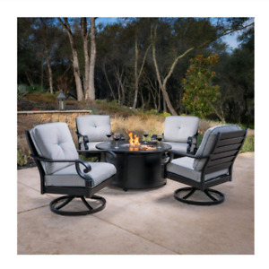 Brand New In Box! Patio Set w/ Fire Table