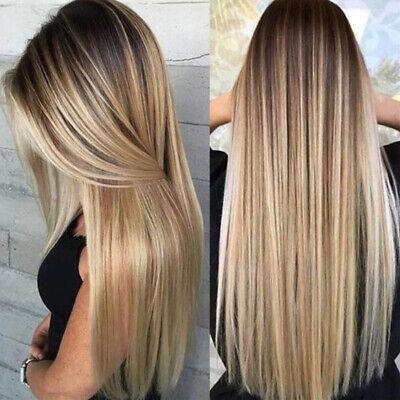 Natürliche Frauen Damen Lange Gerade gemischte Lockige Blonde - Lange Haare Blonde