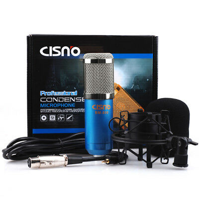 Professional Audio Condenser Microphone Mic Studio Sound Record W/ Shock Mount