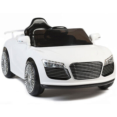 Audi R8 Style 12V Kids Ride On Car Electric Power Wheels Remote Control White