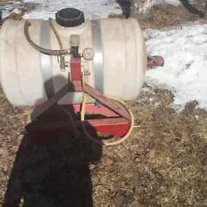 Sprayer for a 3 point hitch