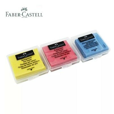 234510pcs Faber-castell Kneadable Eraser Yellowredblue In Plastic Box