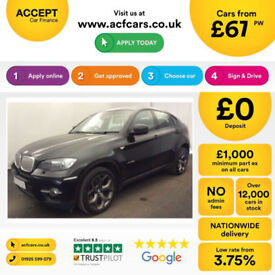 Black BMW X6 3.0TD auto 2010 xDrive35d FROM £67 PER WEEK!