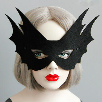 Black Face Mask Elegant Mask For Party Bar Make Up Halloween Festival Masquerade