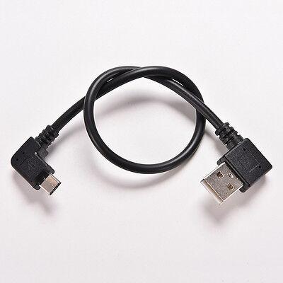 Micro USB 5 Pin Male to USB 2.0 A Male Cable Converter 90 De