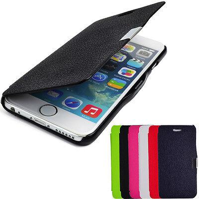 Schutzhülle f Apple iPhone 6 6S Leder-Imitat Magnet Flipcase Cover Tasche smart Apple Iphone Magnet Flip Case