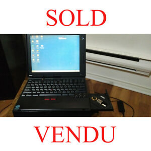 Portable Vintage IBM ThinkPad 380D Laptop!