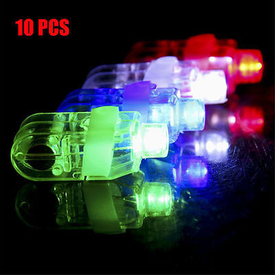 10PCS LED Light Up Flashing Finger Rings Glow Party Favors Kids Children Toys