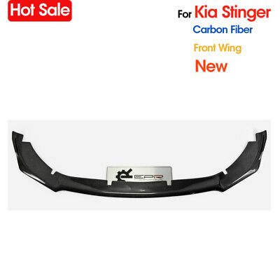 For Kia Stinger Type M Carbon Fiber Front Bumper Splitter Wing Lip Add-On Parts
