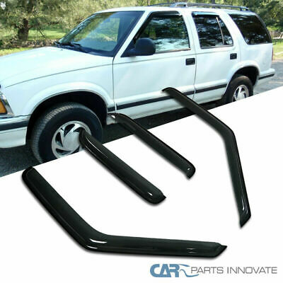 Window Visor 95-05 Blazer Jimmy Tinted Wind Deflector Vent Rain Guard Sun Shade Chevrolet Blazer Vent Visor