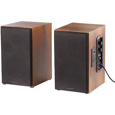 auvisio Aktives Stereo-Regallautsprecher-Set im Holz-Gehäuse mit Bluetooth