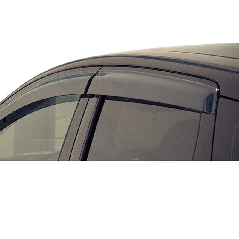 Side Window Deflectors for Jeep Patriot 2009-2016 Car Window Visor Sun Rain Smoke Vent Shade Tape-On Outside Visors