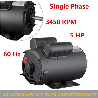 Electric Motor 208-230volts Century B385 5 Hp Spl 3450 Rpm Air Compressor 60 Hz