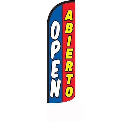 Open Abierto Windless Swooper Flag
