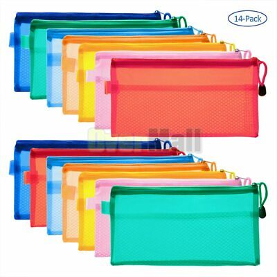 14 Pack File Holders Durable Zipper Filing Envelopes Confidential Document Bags