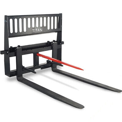 Titan Attachments Hd Pallet Fork And Hay Spear Attachment 48 Blades Quick Tach