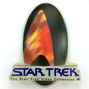 Vintage Star Trek Sign The Video Collection 1995 3D Logo Wall