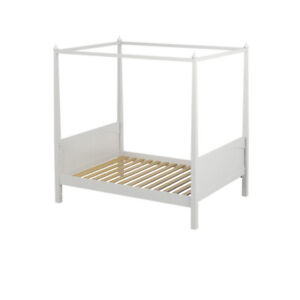 Maxtrix - White dresser and full princess poster bed