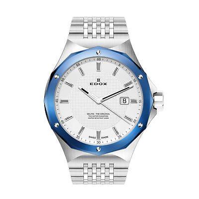 Edox 530053BUMAIN Men's Delfin Silver  Quartz Watch