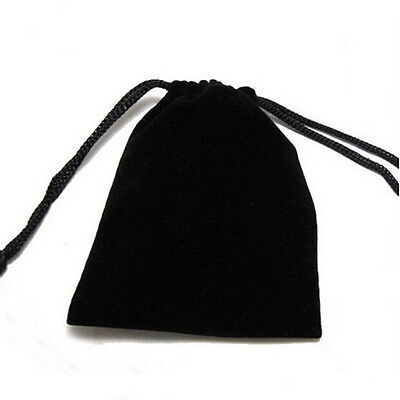 New Double-sided Flocking Velvet Drawstring Pouches Jewelry Gift Bag