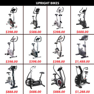 Upright Cardio Magnetic Pedal Bicycle Bike Air Bikes Dual Pedals