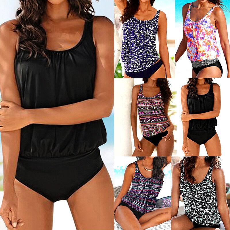 3pcs Women Tankini set with Boy Shorts Sporty Bikini Swimsuit Bathing Swimwear