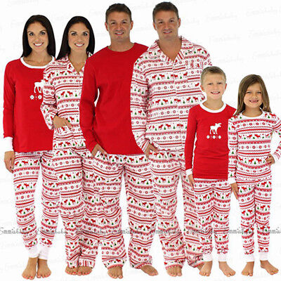 Christmas Family Matching Pajamas Set Adult Mens Womens Kids Sleepwear Nightwear - Pajamas Family Matching