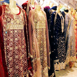 Pakistani and Indian dresses, suits, lengha party wear, peshwaz