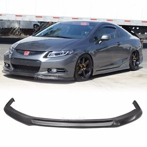 Fit For 2012 2013 Honda Civic Coupe 2D Ikon Style Front Bumper Lip PU