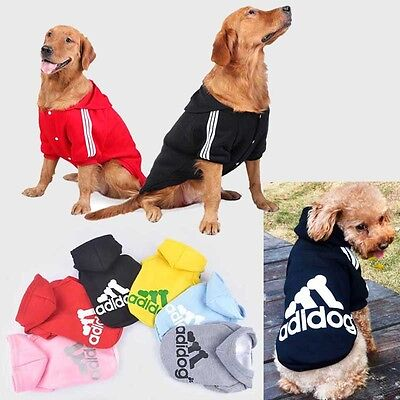 Small Large Pet Dog Cat Jacket Coat Clothes Hoodie Sweater Costumes S-9XL