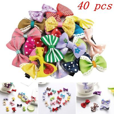 40pcs Colours Kid Baby Girl Child Toddler Hair Bow-knot Clip Accessories Hairpin